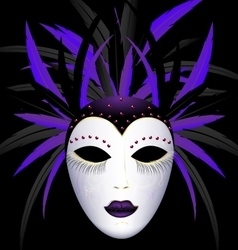 carnival purple dark mask vector image vector image