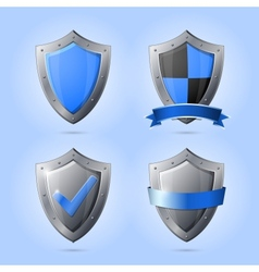 Collection of shield emblems vector image