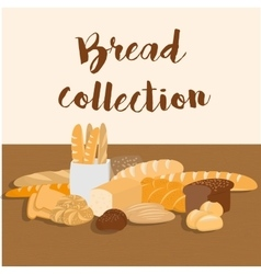 Different kinds of bread set for menu vector image vector image