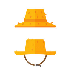 farmer straw hat icons vector image