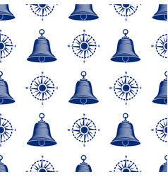 ship helm seamless pattern marine boat wheel vector image