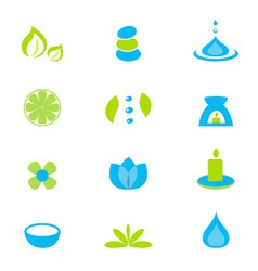 wellness and spa icons vector image vector image