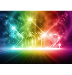 colorful transparent year 2012 vector image vector image