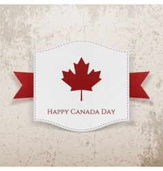Happy Canada Day grunge Background vector image vector image