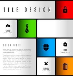 Tile Design vector image vector image