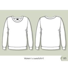 Women sweatshirt Template for design easily vector image