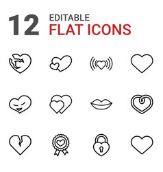 12 passion icons vector