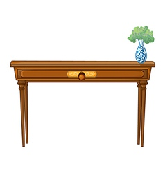 A table and a flowerpot vector image