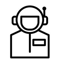 Astronaut portrait line icon avatar cosmonaut vector