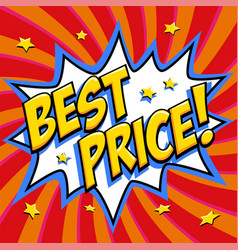 best price - comic book style word on a red vector image