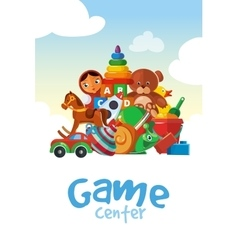 board for the children game center vector image