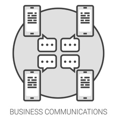 Business communications line infographic vector