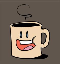 Cartoon mug of coffee vector