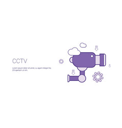Cctv camera video security concept template web vector
