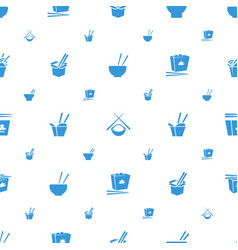 Chopsticks icons pattern seamless white background vector