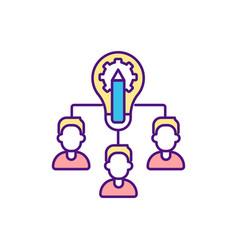 Collaborative designing rgb color icon vector