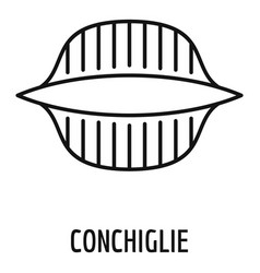 conchiglie icon outline style vector image