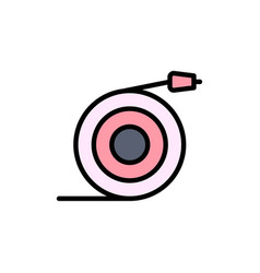 Curved flow pipe water flat color icon icon vector