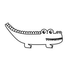 cute crocodile isolated icon vector image