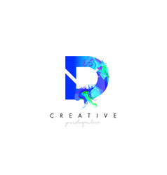 D letter icon design logo with creative artistic vector