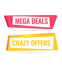 Deals and offers sale banner in 3d style vector