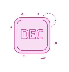 december calender icon design vector image