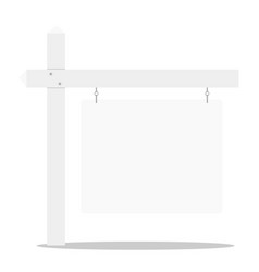 detailed of a blank white real estate sign eps10 vector image