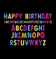 English alphabet vector