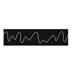 Equalizer sonic icon simple black style vector
