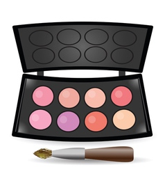 Eyeshadow palette vector