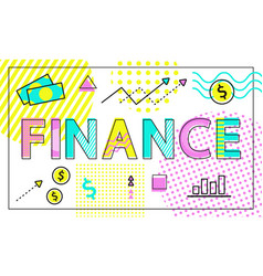 Finance of business company vector