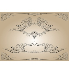 frame with plant and animal elements vector image