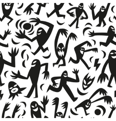 funny monsters -seamless background vector image