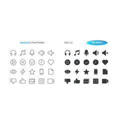 General ui pixel perfect well-crafted thin vector
