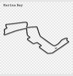 grand prix race track vector image