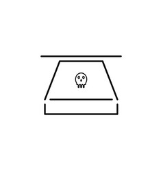 Hacker danger icon on white background can be vector