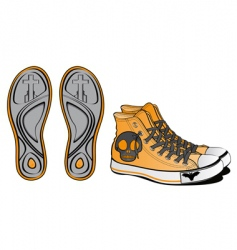 Halloween footwear skull vector