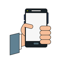 hand cellphone vector image