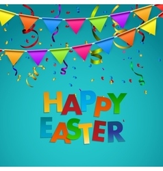 Happy Easter Background with Flags vector image vector image