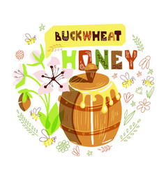 Honey barrel vector