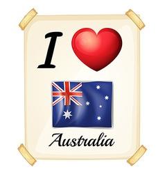 I love Australia vector image