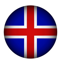 Iceland flag button vector image