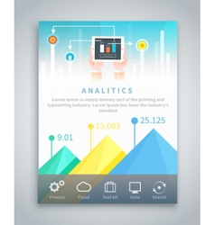 Infographic Business Brochure Banner vector image