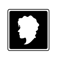Isolated woman head profile design vector