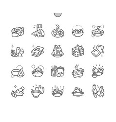 italian cuisine well-crafted pixel perfect vector image