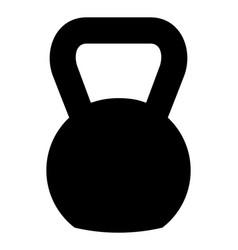 Kettlebell icon design vector
