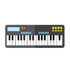 Keyboard piano instrument graphic vector