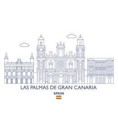 las palmas de gran canaria city skyline vector image