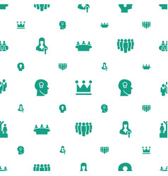 Leader icons pattern seamless white background vector