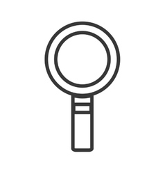 Lupe magnifying glass silhouette icon vector